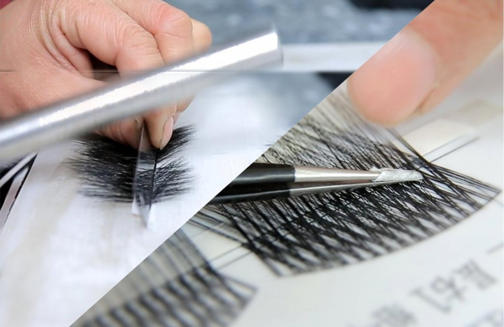 making lashes process