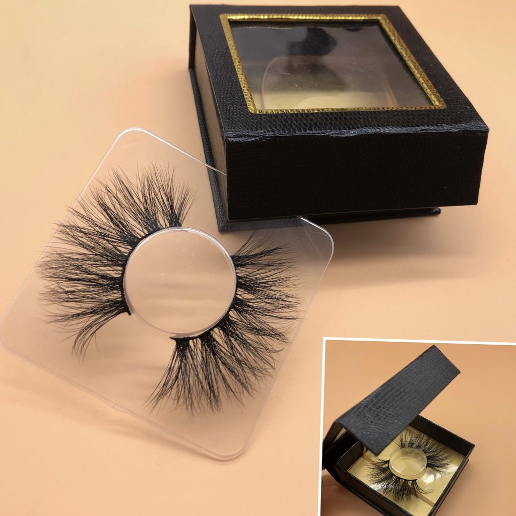 square black custom eyelash cases, custom strip lash packaging