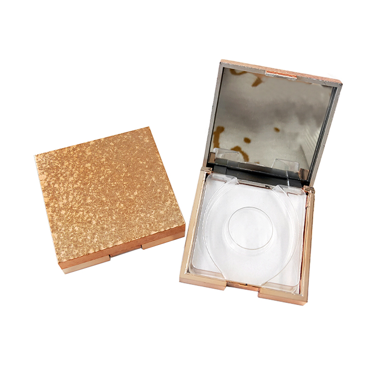 Magic Color Cartoon Characters Square Flip Top Acrylic eyelash package With Mirror,custom eyelash packaging box with mirror