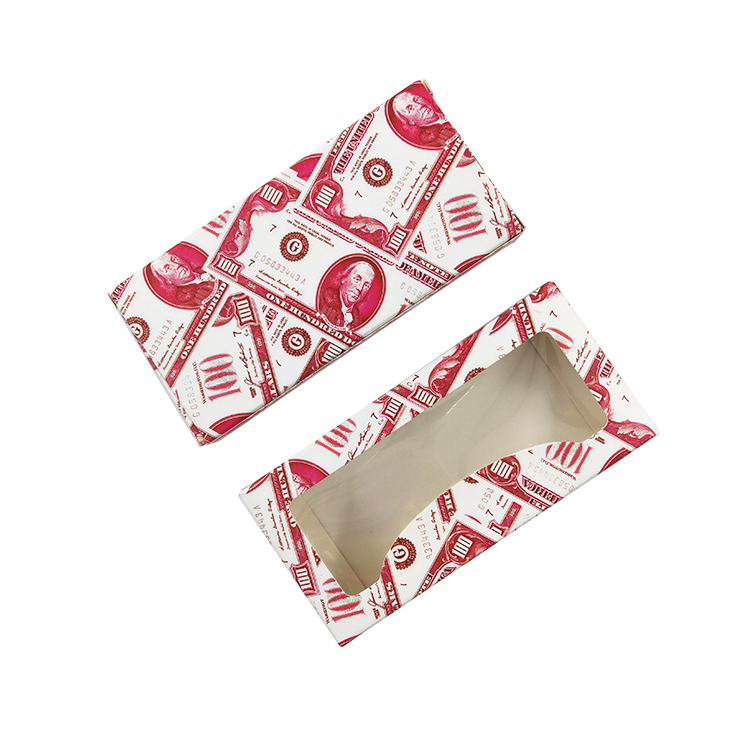 Magic Color Dollar specialty paper Rectangular eyelashes packaging