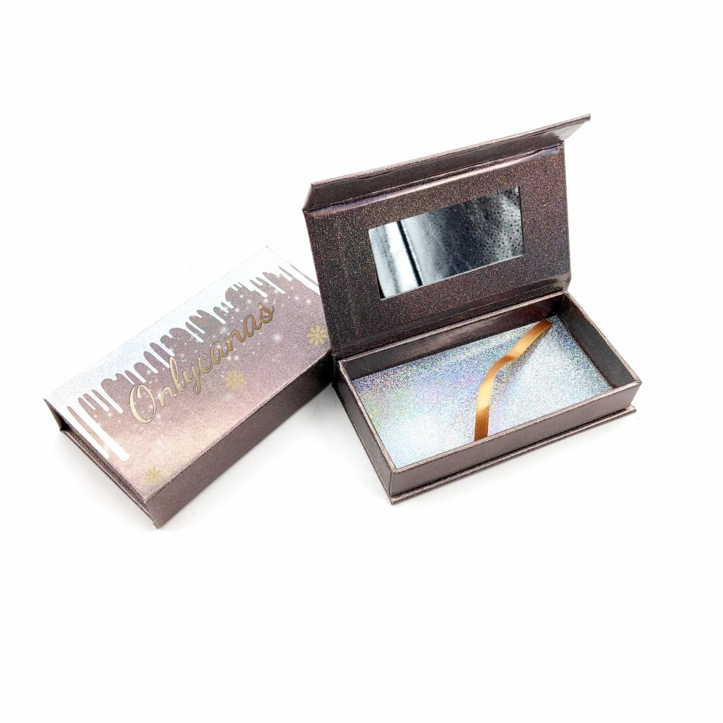 customized eyelash packaging with mirror