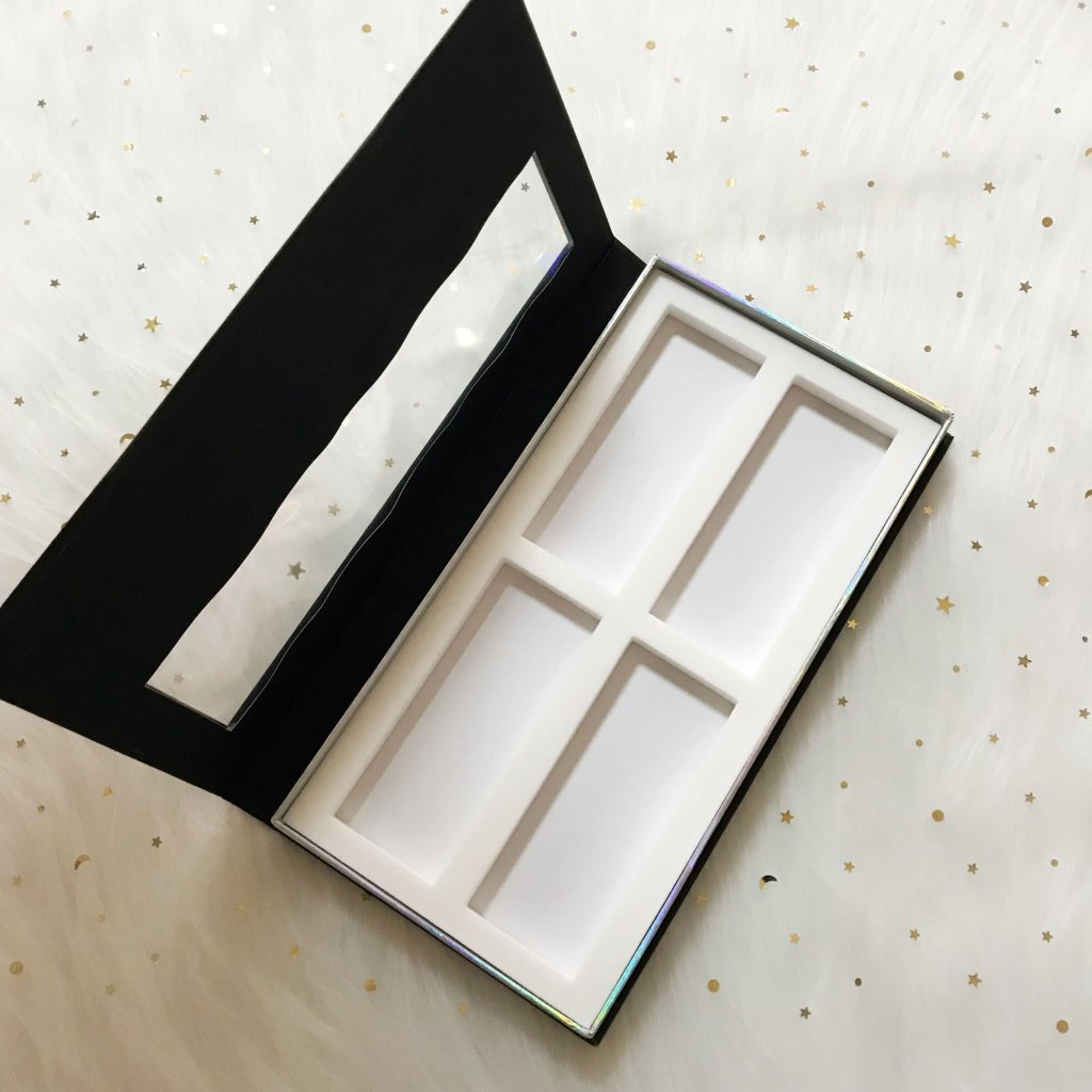 black customzied 2 pairs eyelash box