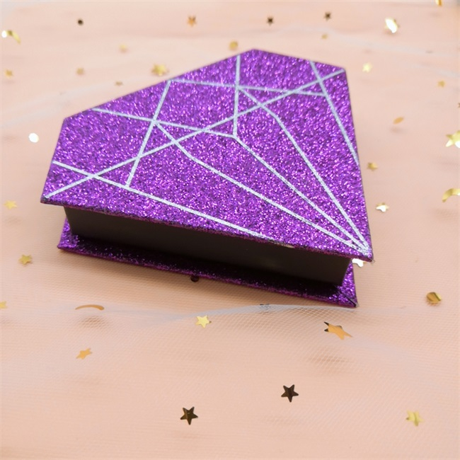 purple diamond polygon creative eyelash cases ideas