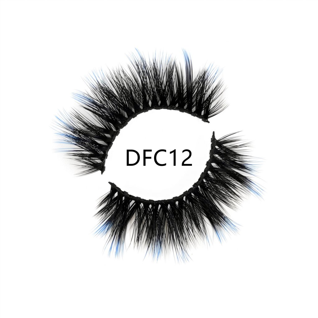 Summer new ombre blue magnetic lash