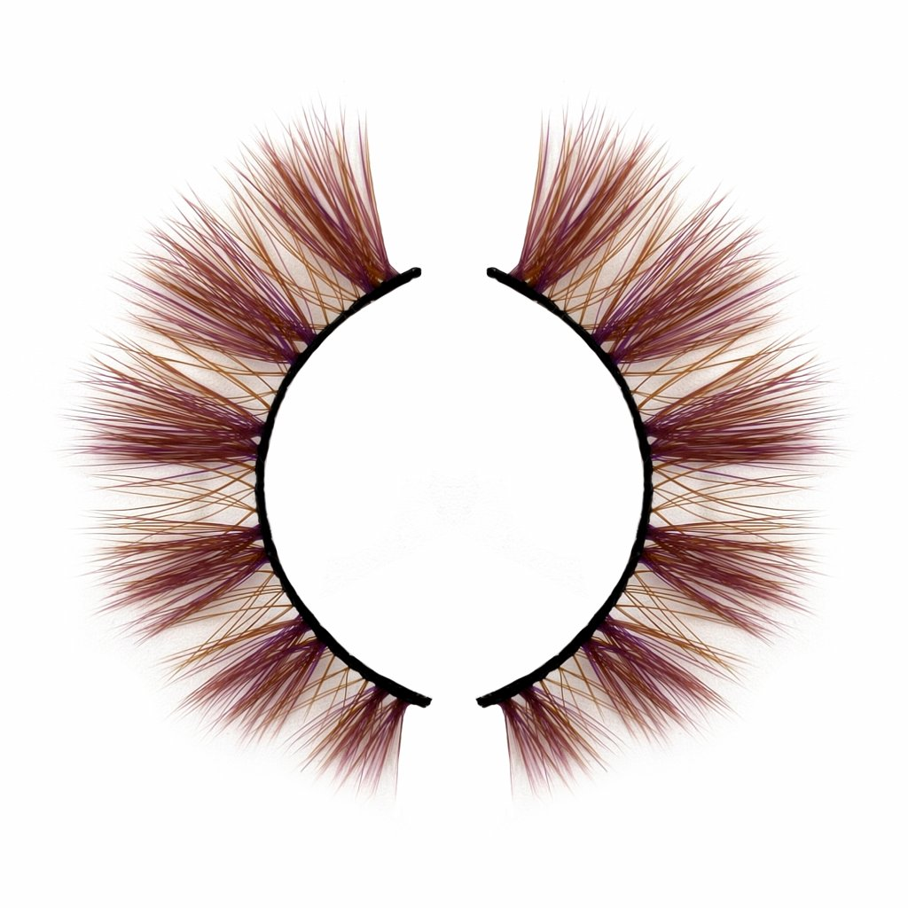 Highlight brown color lashes with black band