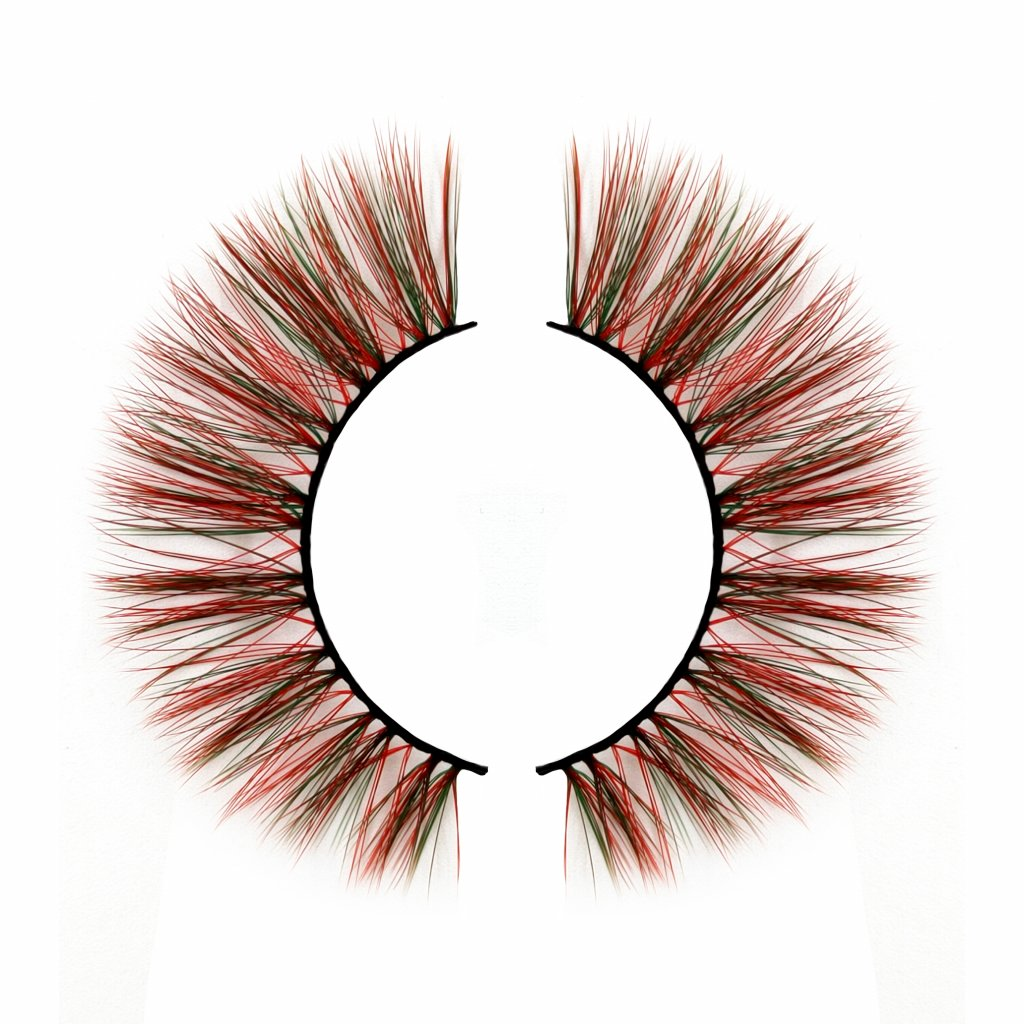 Hottest brown red highlight color eyelashes